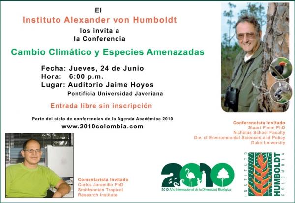 Conferencia sobre especies amenazadas y cambio climático